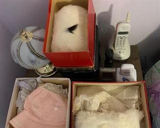 rabbit muffs, baby hats.. all vintage