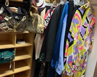 clothing, purses