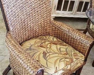 Close up of dining set arm chair