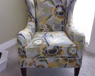 Sam Moore by Hooker Furniture Floral wing back chair, like new!