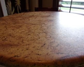 Stylish Pub height bar top table with 3 chairs
