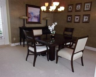 Lexington Dining room table with 6 chairs and matching buffet/sideboard!