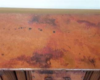 Rustic look wood cabinet/buffet.