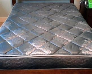 Simmons Queen double pillow top mattress and box springs.