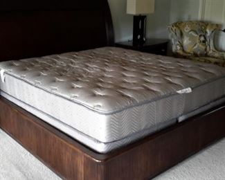 King Simmons pillow top mattress and box springs.
