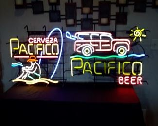 Two Cerveza Pacifico neon signs in excellent condition.