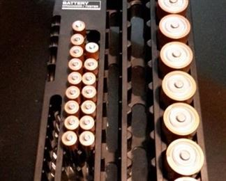 Battery holder with batteries