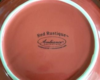 Red Rustique by Ambiance Collection