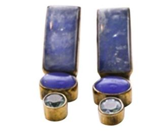 1. Semiprecious Stone and Sterling Silver Earrings