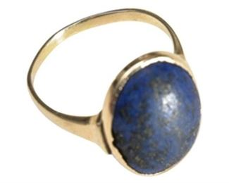 8. 14 Karat and Lapis Ring