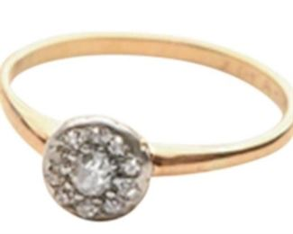 11. Antique Gold and Diamond Dinner Ring