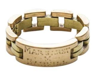 24. 14K Monogrammed Link Ring