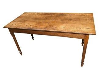 35. Large c.1880s Oak Primitive Dining Table