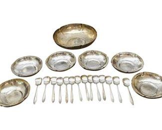 38. 21 piece Sterling Silver Serving Set