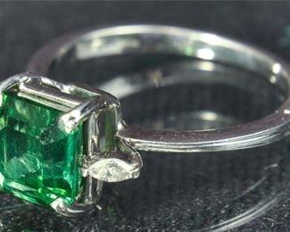 45. Tourlmaline And Diamond Ladies Ring
