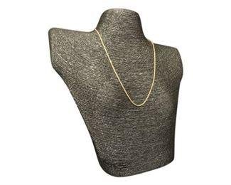 57. 14 Karat Rope Form Neck Chain