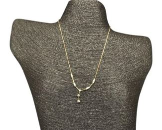 68. Ladies Gold and Diamond Pendent Necklace