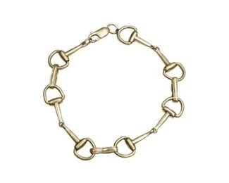 80. 14 Karat Hermes Style English Stirrup Bracelet