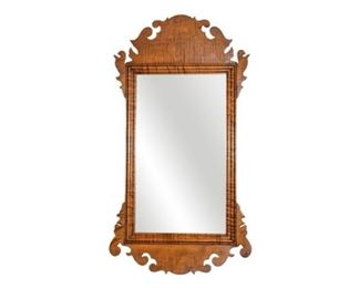 88. Eldred Wheeler Chippendale Style Mirror in Tiger Maple