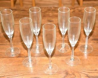 94. Seven Piece Crystal Champagne Flutes