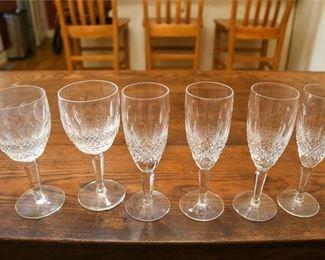 96. Set of Seven Crystal Wine glasses