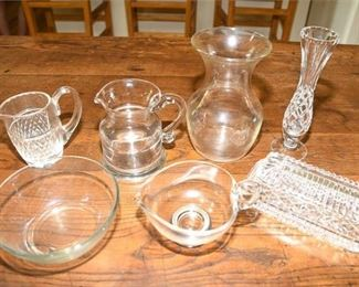 99. Group Lot Seven 7 Piece Glass or Crystal Items