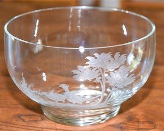 103. Queen Lace Cut Glass Center Bowl