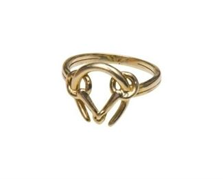 106. 14K Gold HERMES Style Horseshoe Ring