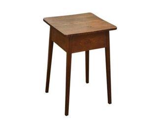 111. Vintage Arts Crafts Oak Side Table  Plant Stand
