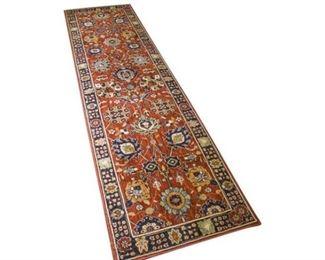 131. Oriental Wool Carpet Runner 8 ft. by 2 ft.