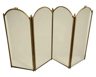 139. Antique Aesthetic Style Bronze Fireplace Screen c.1870s