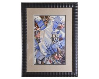 128. Contemporary Watercolor of Florida Nature Scene by AVERY JOHNSON