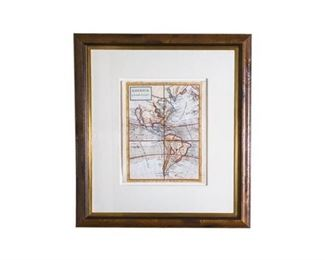 131. Rare Fine 17th century Map of America California as Island