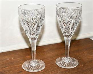 137. Large Pair Cut Crystal Glasses