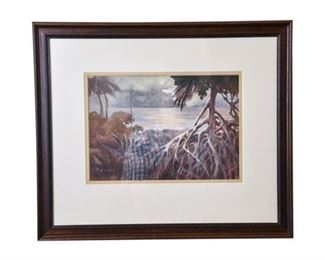 140. Vintage Florida Watercolor Painting by K.A. Beck