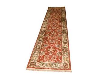 148. Vintage AsianTwelve 12 Foot Long Wool RugRunner
