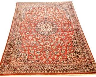 149. Large Vintage Persian Wool Six 6 Foot Area Rug