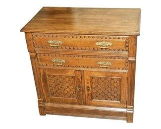 152. Antique Aesthetic Style Oak Side Dresser