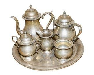 158. 6 Six Piece Solid Sterling Coffee Tea Set 4100 GRAMS