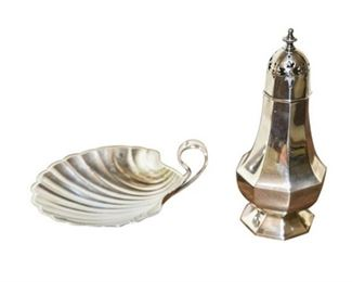 160. Set of Two Sterling Silver Table Accessories