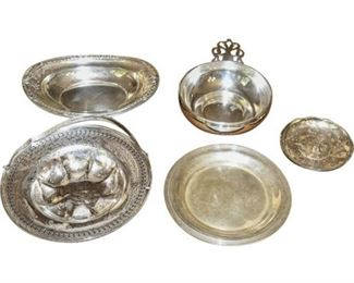 163. Five Piece Sterling Silver Serving Set