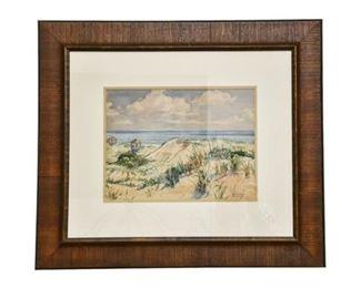 174. Vintage W. STUART ARCHIBALD WPA Watercolor Painting