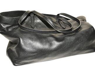 179. Womens Large Black Leather Designer PurseHandbag