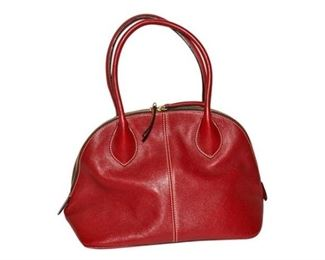 183. Womens Red Leather DOONEY  BOURKE HandbagPurse