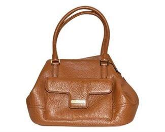 185. Womens Tan Leather BROOKS BROTHERS HandbagPurse
