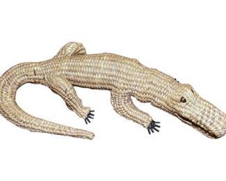 191. Basket Weave Alligator Decor Accent