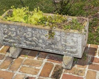195. KENNETH LYNCH Medieval Style Concrete Planter Box