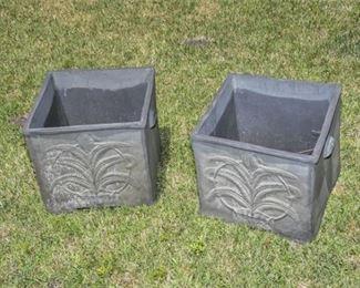 198. Square Floral Design Planter Boxes