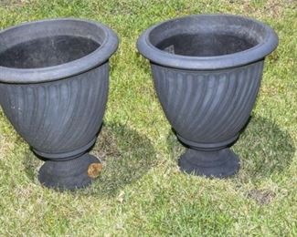202. Pair Urn Shaped Outdoor Planters