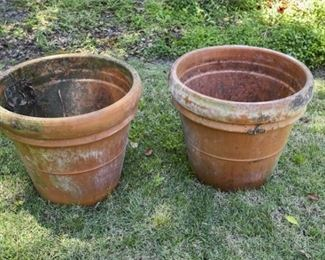 205. Large Pair Terracotta Outdoor Planters